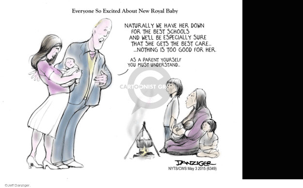 Cartoonist Jeff Danziger  Jeff Danziger's Editorial Cartoons 2015-05-03 poverty