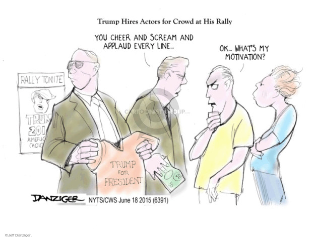 Cartoonist Jeff Danziger  Jeff Danziger's Editorial Cartoons 2015-06-18 rally