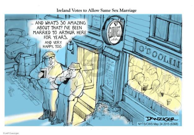 Cartoonist Jeff Danziger  Jeff Danziger's Editorial Cartoons 2015-05-24 Ireland