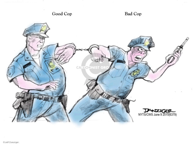 Cartoonist Jeff Danziger  Jeff Danziger's Editorial Cartoons 2015-06-09 police