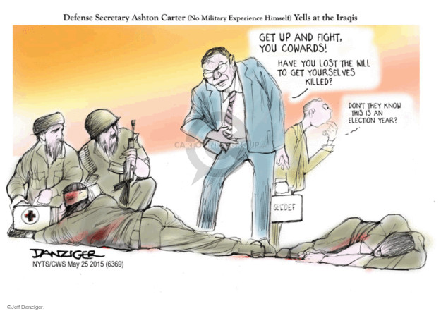 Jeff Danziger  Jeff Danziger's Editorial Cartoons 2015-05-25 armed forces