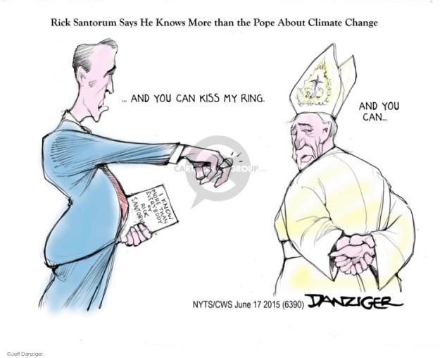 Cartoonist Jeff Danziger  Jeff Danziger's Editorial Cartoons 2015-06-17 climate