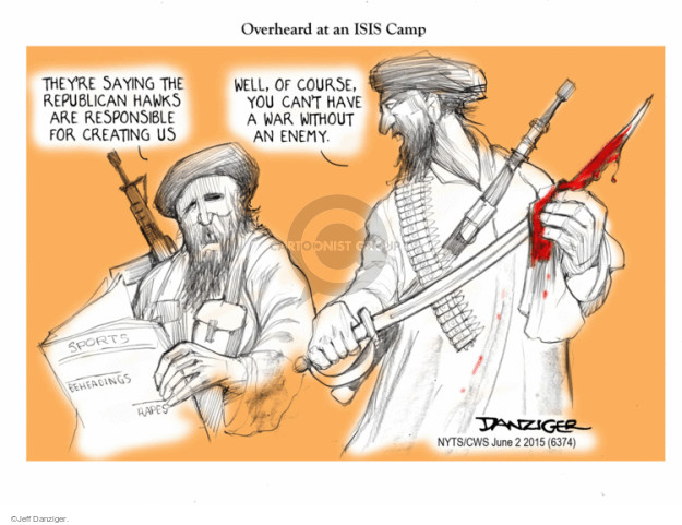 Jeff Danziger  Jeff Danziger's Editorial Cartoons 2015-06-02 terrorist