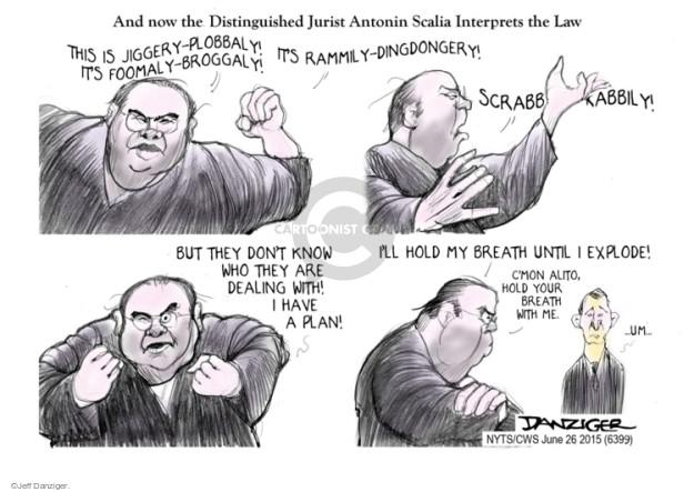 Cartoonist Jeff Danziger  Jeff Danziger's Editorial Cartoons 2015-06-26 nonsense