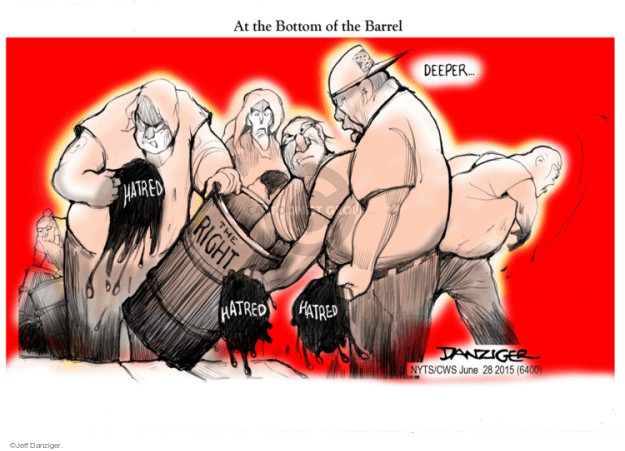 Cartoonist Jeff Danziger  Jeff Danziger's Editorial Cartoons 2015-06-28 bias