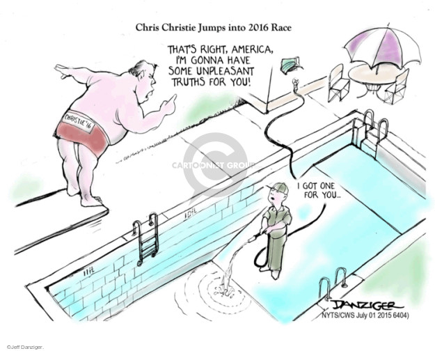 Cartoonist Jeff Danziger  Jeff Danziger's Editorial Cartoons 2015-07-01 race