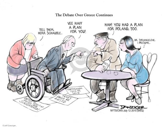 Cartoonist Jeff Danziger  Jeff Danziger's Editorial Cartoons 2015-07-12 debt