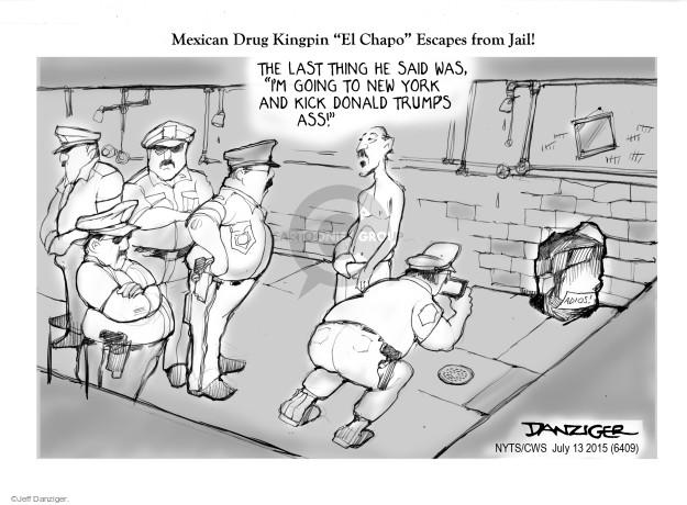 Cartoonist Jeff Danziger  Jeff Danziger's Editorial Cartoons 2015-07-13 crime