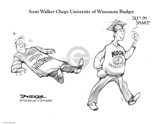Jeff Danziger  Jeff Danziger's Editorial Cartoons 2015-07-13 Scott Walker
