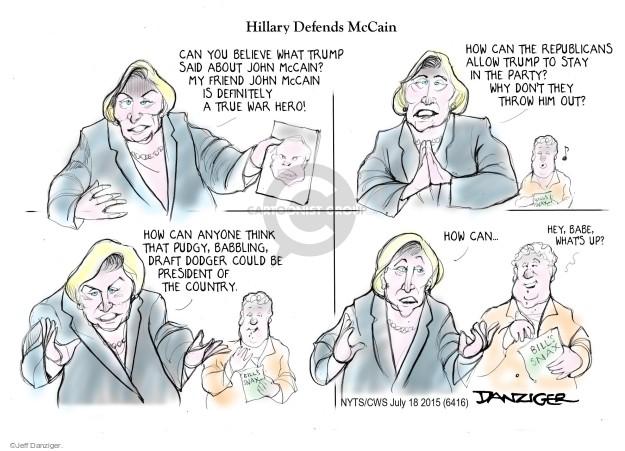 Cartoonist Jeff Danziger  Jeff Danziger's Editorial Cartoons 2015-07-18 candidates republicans