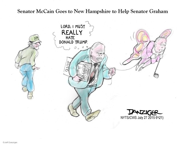 Cartoonist Jeff Danziger  Jeff Danziger's Editorial Cartoons 2015-07-27 endorsement