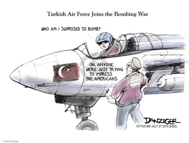 Cartoonist Jeff Danziger  Jeff Danziger's Editorial Cartoons 2015-07-27 bomb