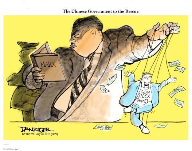 Jeff Danziger  Jeff Danziger's Editorial Cartoons 2015-07-30 stock market