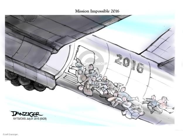 Cartoonist Jeff Danziger  Jeff Danziger's Editorial Cartoons 2015-07-31 candidates republicans
