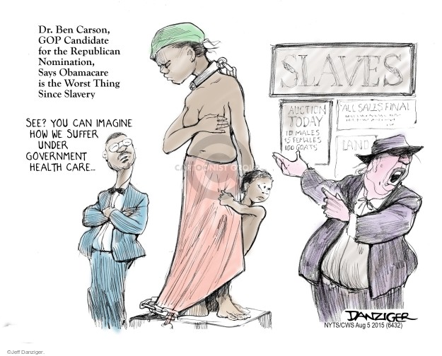 Cartoonist Jeff Danziger  Jeff Danziger's Editorial Cartoons 2015-08-05 affordable care act