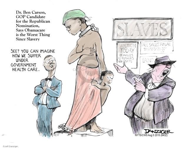 Cartoonist Jeff Danziger  Jeff Danziger's Editorial Cartoons 2015-08-05 candidates republicans