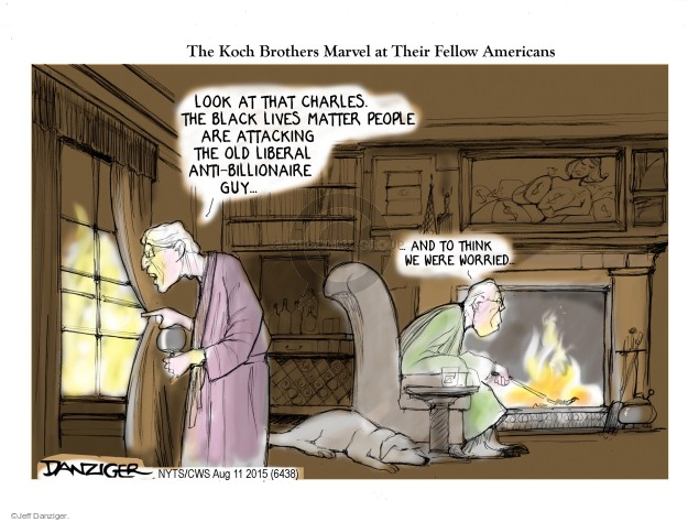 Jeff Danziger  Jeff Danziger's Editorial Cartoons 2015-08-11 Koch brothers