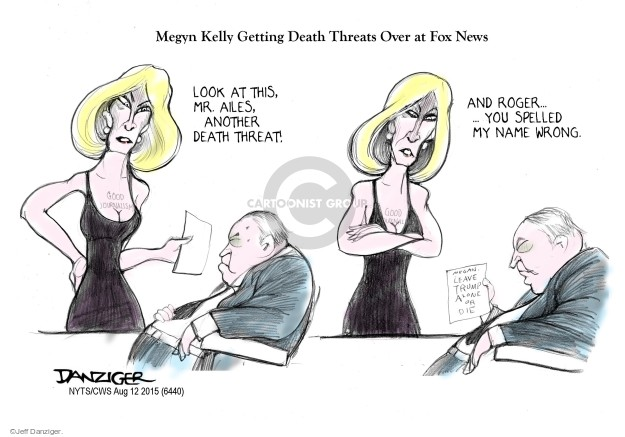 Cartoonist Jeff Danziger  Jeff Danziger's Editorial Cartoons 2015-08-12 conservative