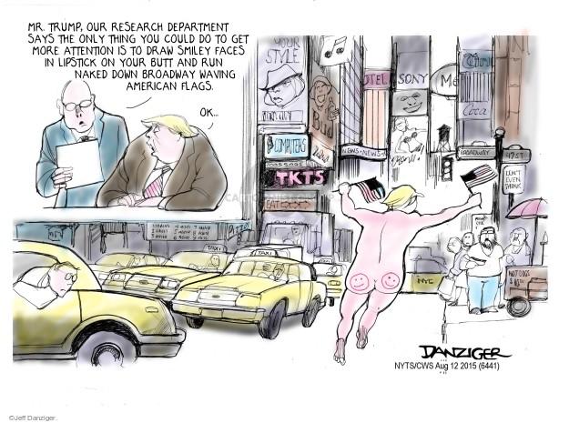 Jeff Danziger  Jeff Danziger's Editorial Cartoons 2015-08-12 $16