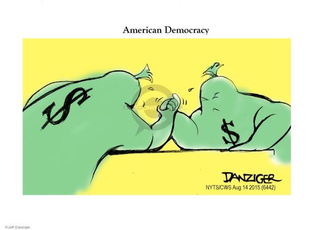 Cartoonist Jeff Danziger  Jeff Danziger's Editorial Cartoons 2015-08-14 process