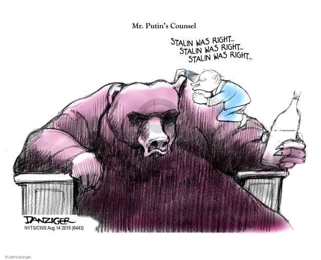 Cartoonist Jeff Danziger  Jeff Danziger's Editorial Cartoons 2015-08-14 regime