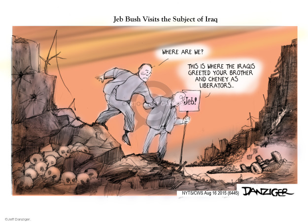 Cartoonist Jeff Danziger  Jeff Danziger's Editorial Cartoons 2015-08-16 George W. Bush