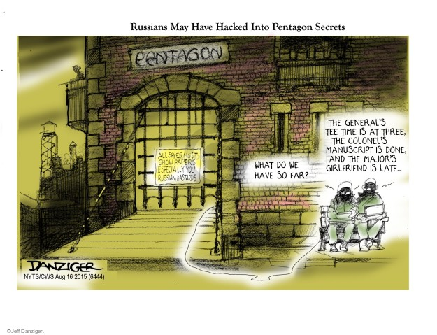 Cartoonist Jeff Danziger  Jeff Danziger's Editorial Cartoons 2015-08-16 United States
