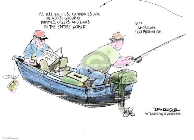 Cartoonist Jeff Danziger  Jeff Danziger's Editorial Cartoons 2015-08-23 nationalist
