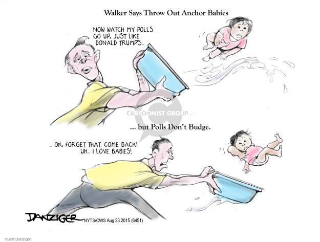 Cartoonist Jeff Danziger  Jeff Danziger's Editorial Cartoons 2015-08-23 throw