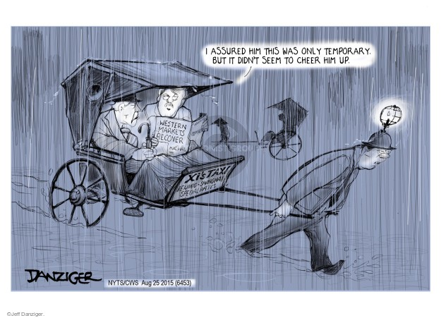 Jeff Danziger  Jeff Danziger's Editorial Cartoons 2015-08-25 chinese