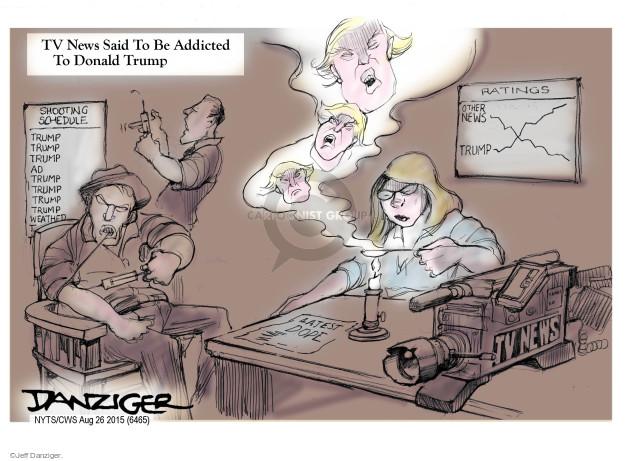 Cartoonist Jeff Danziger  Jeff Danziger's Editorial Cartoons 2015-08-26 candidates republicans