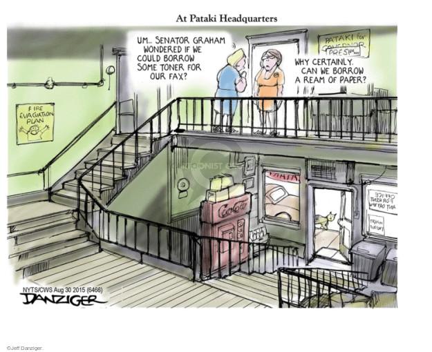 Cartoonist Jeff Danziger  Jeff Danziger's Editorial Cartoons 2015-08-30 graham