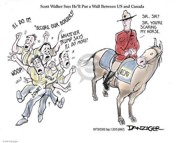 Cartoonist Jeff Danziger  Jeff Danziger's Editorial Cartoons 2015-09-01 fence