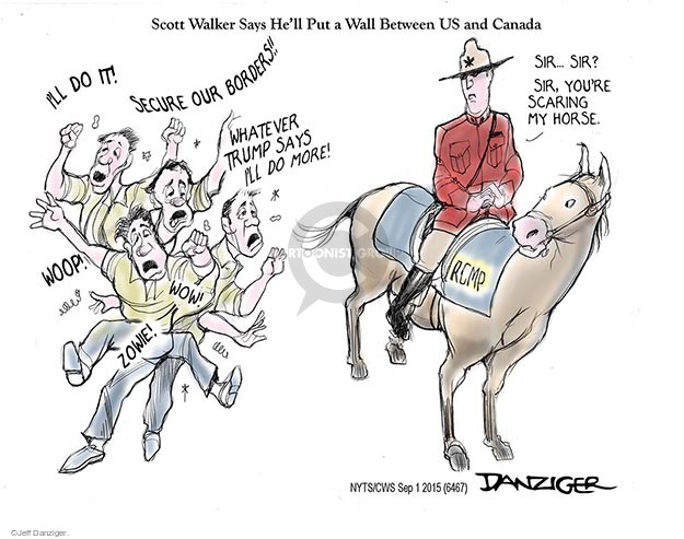 Cartoonist Jeff Danziger  Jeff Danziger's Editorial Cartoons 2015-09-01 United States