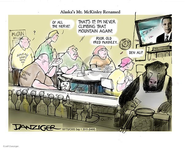 Cartoonist Jeff Danziger  Jeff Danziger's Editorial Cartoons 2015-09-01 name