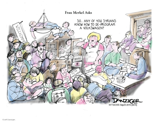 Cartoonist Jeff Danziger  Jeff Danziger's Editorial Cartoons 2015-09-23 migration