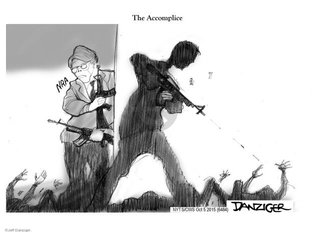 Cartoonist Jeff Danziger  Jeff Danziger's Editorial Cartoons 2015-10-05 gun rights