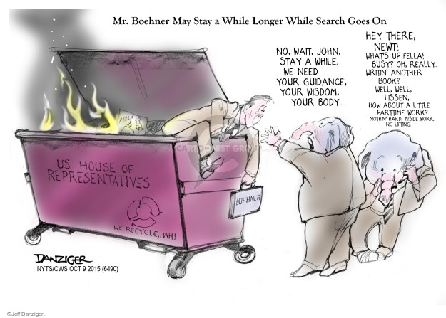 Cartoonist Jeff Danziger  Jeff Danziger's Editorial Cartoons 2015-10-09 wisdom