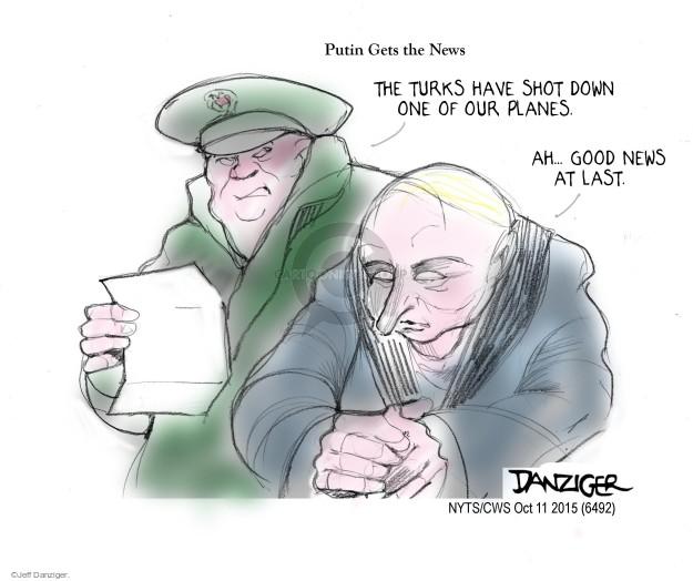 Cartoonist Jeff Danziger  Jeff Danziger's Editorial Cartoons 2015-10-11 unrest