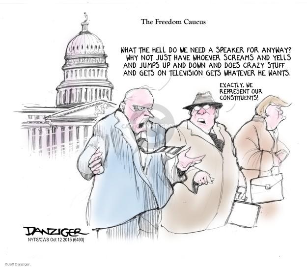 Cartoonist Jeff Danziger  Jeff Danziger's Editorial Cartoons 2015-10-12 legislation