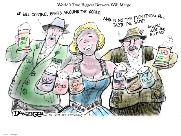 Cartoonist Jeff Danziger  Jeff Danziger's Editorial Cartoons 2015-10-16 corporate