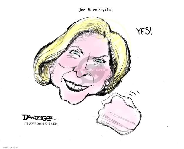 Cartoonist Jeff Danziger  Jeff Danziger's Editorial Cartoons 2015-10-21 Joe Biden