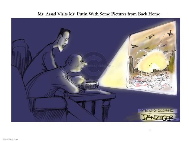 Cartoonist Jeff Danziger  Jeff Danziger's Editorial Cartoons 2015-10-22 al-Assad