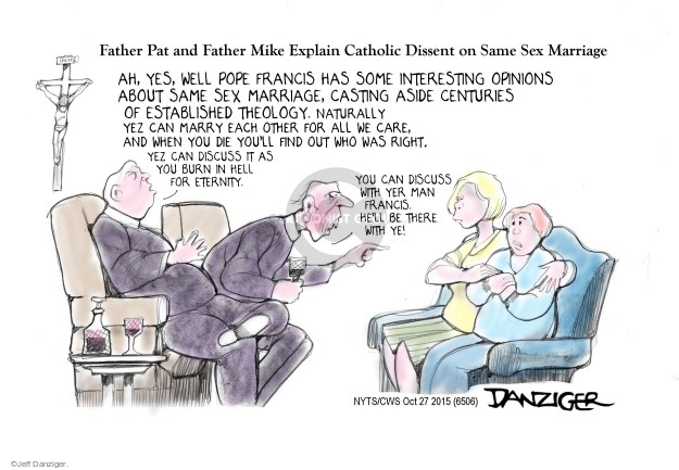 Cartoonist Jeff Danziger  Jeff Danziger's Editorial Cartoons 2015-10-27 religion