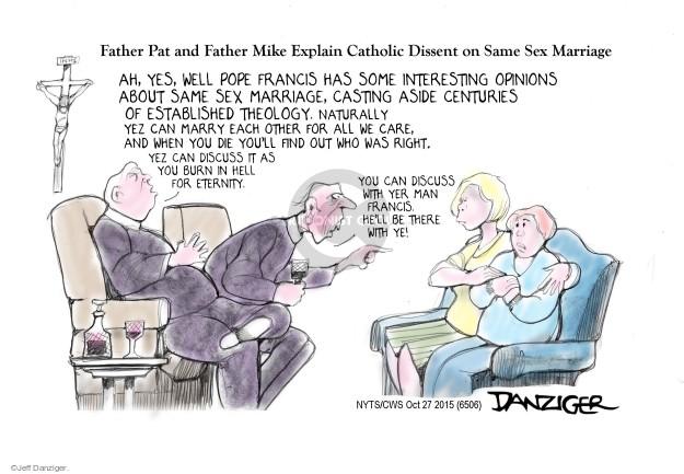 Cartoonist Jeff Danziger  Jeff Danziger's Editorial Cartoons 2015-10-27 pope
