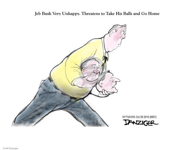 Cartoonist Jeff Danziger  Jeff Danziger's Editorial Cartoons 2015-10-28 threaten