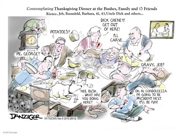 Cartoonist Jeff Danziger  Jeff Danziger's Editorial Cartoons 2015-11-06 Donald Rumsfeld