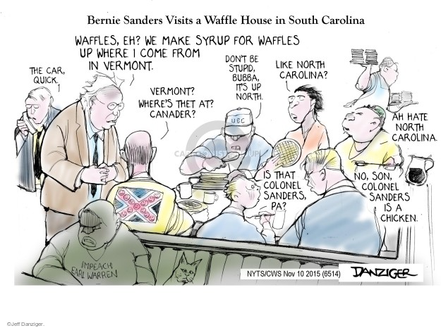 Cartoonist Jeff Danziger  Jeff Danziger's Editorial Cartoons 2015-11-10 Earl Warren