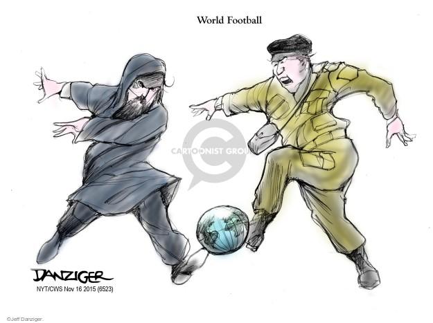 Cartoonist Jeff Danziger  Jeff Danziger's Editorial Cartoons 2015-11-17 terrorism