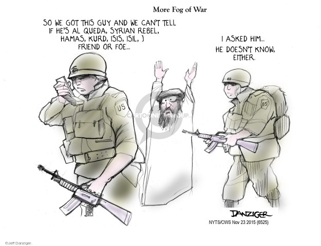 Jeff Danziger  Jeff Danziger's Editorial Cartoons 2015-11-23 terrorist